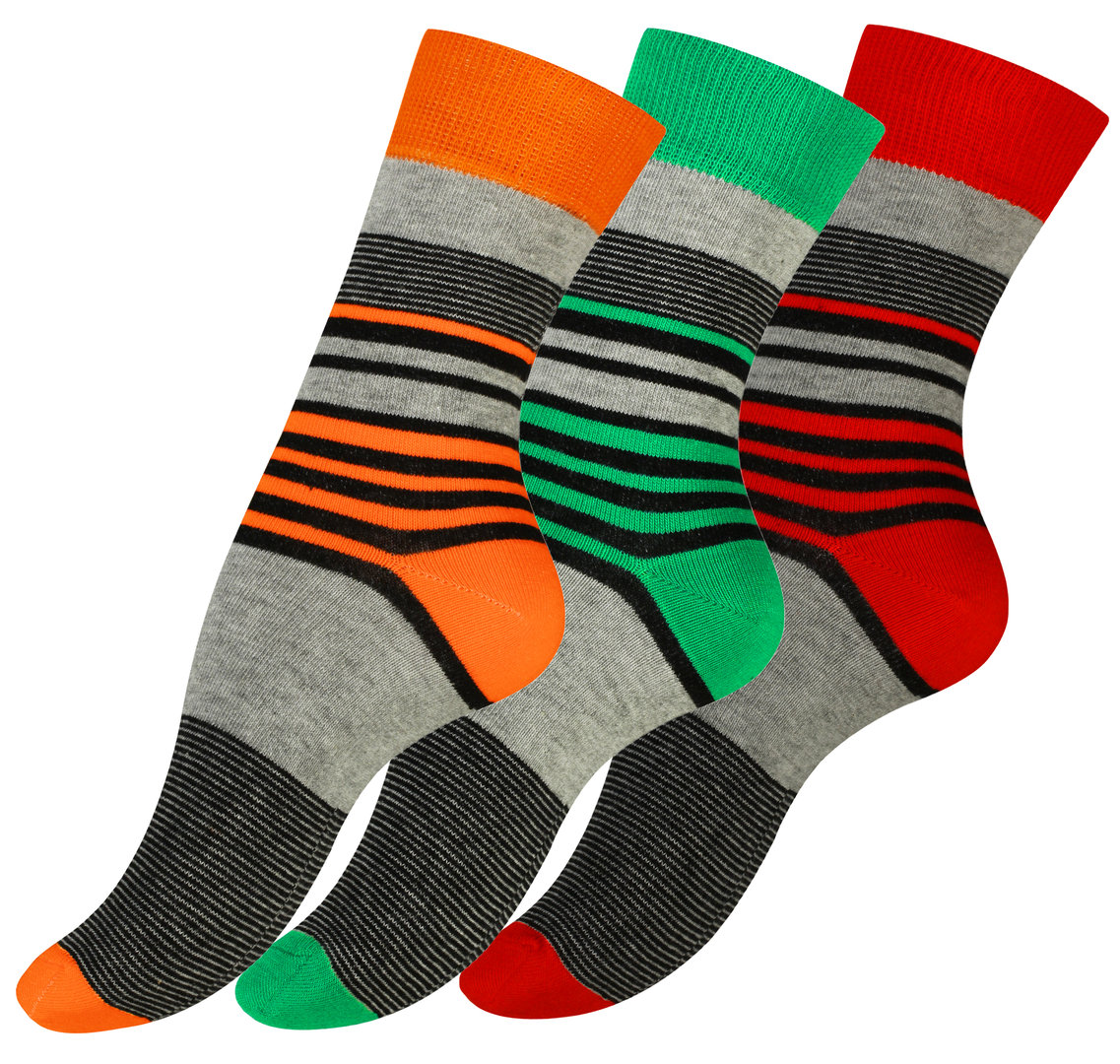 vincent creation damen casual socken candy stripe 3er pack. Black Bedroom Furniture Sets. Home Design Ideas