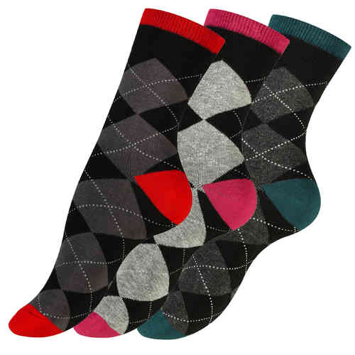 "Vincent Creation® Damen Casual-Socken ""CHECK"""
