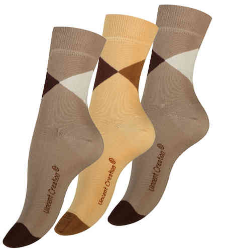 "Vincent Creation® Damen Casual-Socken ""TRIANGLE"""