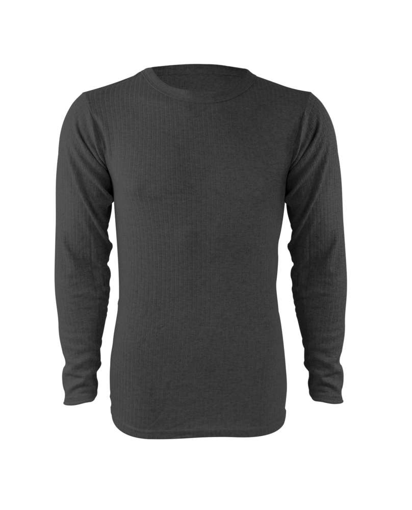 66e2f7c027e0 men cotton thermo undershirt longsleeve in anthracite, singlepack