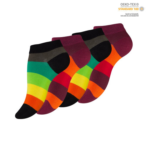 "Vincent Creation® Damen Sneaker Socken ""RAINBOW"""