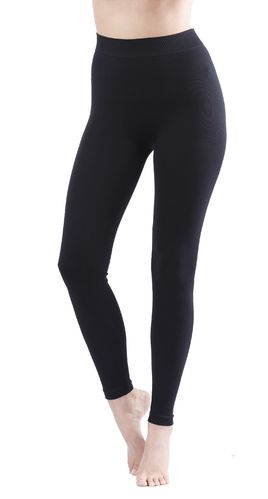 yenita® seamless Mikrofaser Leggings in schwarz