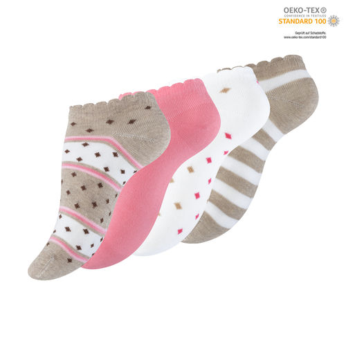 "Vincent Creation® Damen Sneakersocken ""HAZELNUT"""