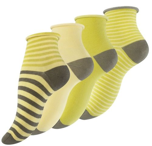 "Vincent Creation® Damen Söckchen ""LEMON STRIPES"""