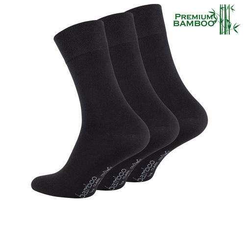 Clark Crown® Herren BAMBUS Businesssocken in schwarz