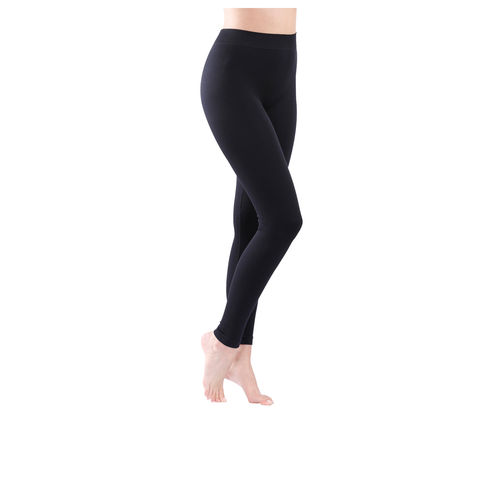 yenita® Damen Baumwoll-Leggings in schwarz