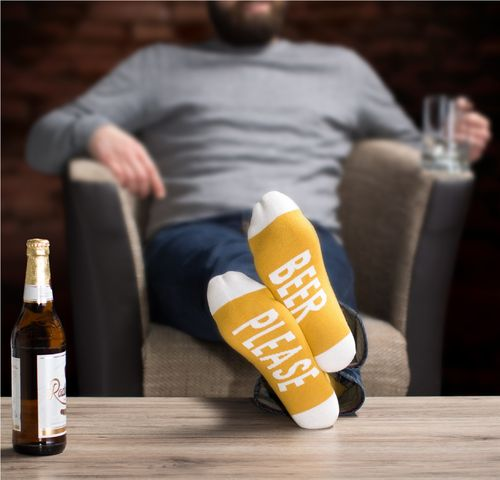 "Clark Crown® Herren Under-Statement-Socks ""BEER PLEASE"""