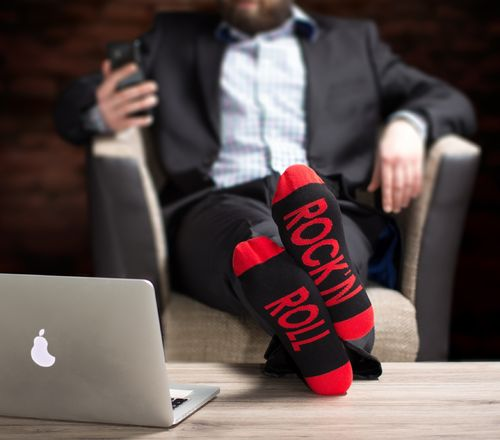 "Clark Crown® Herren Under-Statement-Socks ""ROCK'N ROLL"""