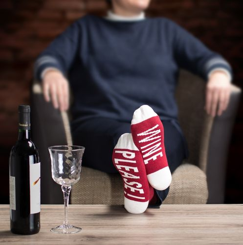 "Clark Crown® Damen Under-Statement-Socks ""WINE PLEASE"""