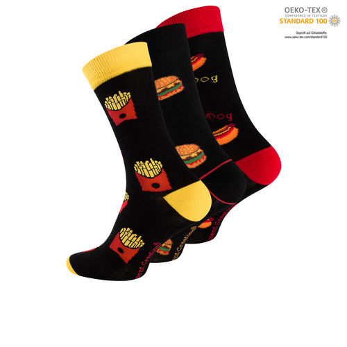 "Vincent Creation® Unisex Casual-Socken ""Fast Food"""