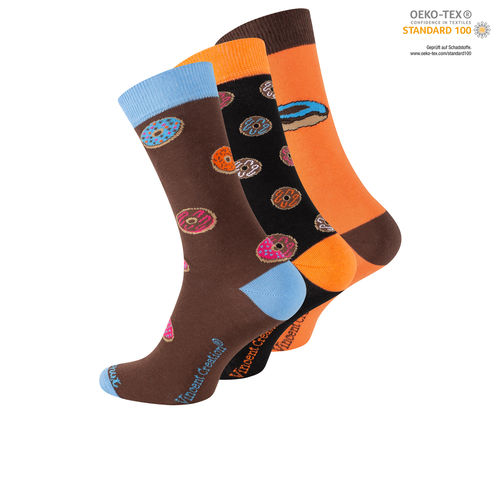 "Vincent Creation® Unisex Casual Socken ""Donuts"""