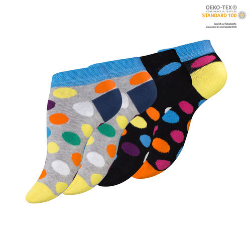 "Vincent Creation® Damen Sneaker Socken ""DOTS"""